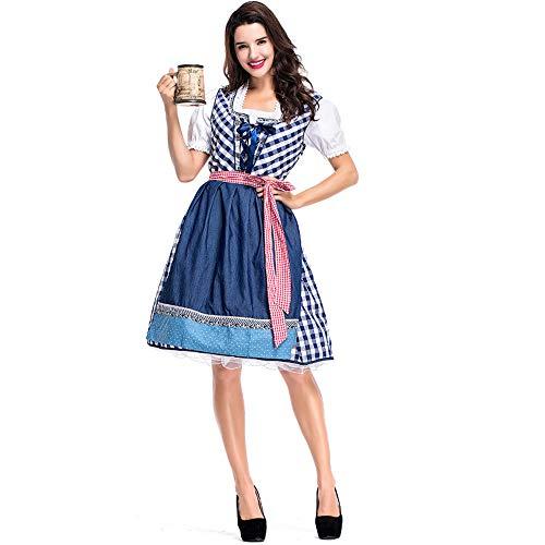GIFT ZHIZHUXIA Damen Mädchen Oktoberfest Bayerisches Bierfest Mädchen Plus Size German Maid Fancy Dress Costume Weihnachtsfeier Kleid Requisiten (Farbe : Photo Color, größe : ()