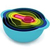 MyKitchen Compact Nest 8 Mixing Bowl Set, Multi-Colour