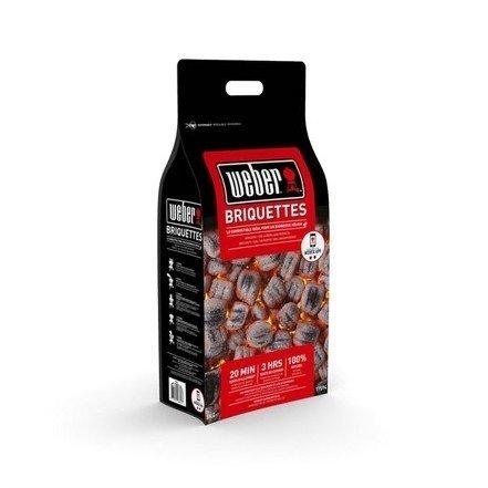 Sacco Bricchetti di carbone per Barbecue Weber 8 Kg cod.17591 - 3 Confezioni