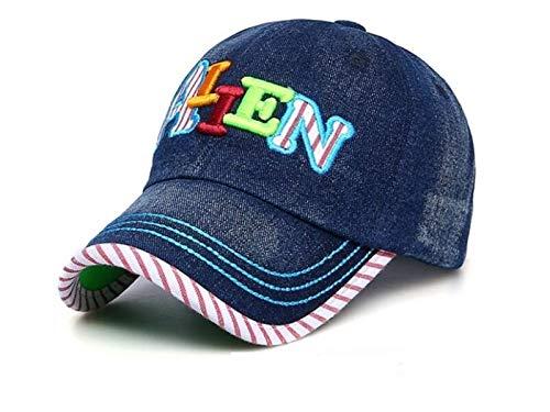 Kleinkind Mütze Alphabet Kinder Cowboy Baseballmütze Kinder Sonnenschutz Hut Sonnenblende für Outdoor (Dunkelblau) Baby Kopfbedeckung (Farbe : Dark Blue, Größe : 56-60cm)
