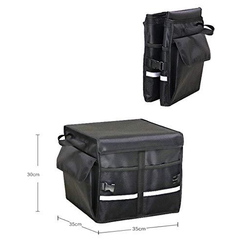 Cassiel Y Boîte De Rangement pour Voiture - Facile À Nettoyer, Pliable, Poignée en Aluminium (Noir),#1