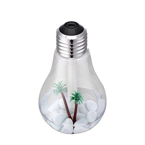Xshuai Luft-Aroma-Luftbefeuchter-Lampen-Hauptdekor LED-Luft-Diffusor-Luftreiniger-Zerstäuber 400ml, die Portable für Baby-Kinderhaus-Schönheits-Salon, Yoga, Badekurort, Auto, Büro oder zu Hause, im Wohnzimmer oder im Schlafzimmer ändern (Silber)