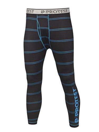 Protest, Pantaloni termici ibridi Uomo, Nero (schwarz - azurblau), XXL
