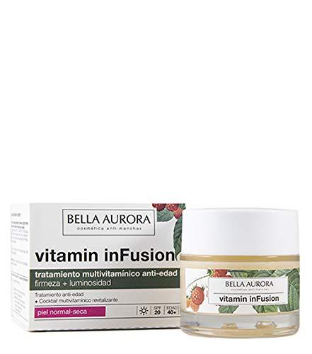 Bella Aurora Vitamin inFusion Tratamiento Multivitamínico Anti-Edad Facial Diario para Mujer Crema Facial Firmeza + Luminosidad Piel Normal O Seca, 50 ml