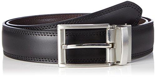 MLT Belts & Accessoires Herren Wende-Gürtel Milano, Gr. 100 cm, Mehrfarbig (Black Brown 1043)