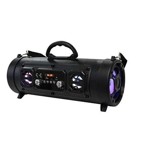 Haludock Outdoor Super tragbarer Bluetooth-Lautsprecher mit 8-stündigem 20-Meter-Bluetooth-Subwoofer-LED-Licht mit Multifunktionskarte und Mikrofonsound