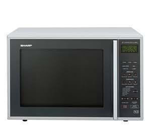 Sharp R959SLMA 40 litre 900 watt Digital Combination Microwave Oven with Quartz Grill, Silver