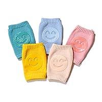 مضادة للانزلاق حتى الركبة للأطفال، 5 أزواج من وسادات الركبة الزاحف للأطفال من الجنسين والأطفال الصغار من سن المشي