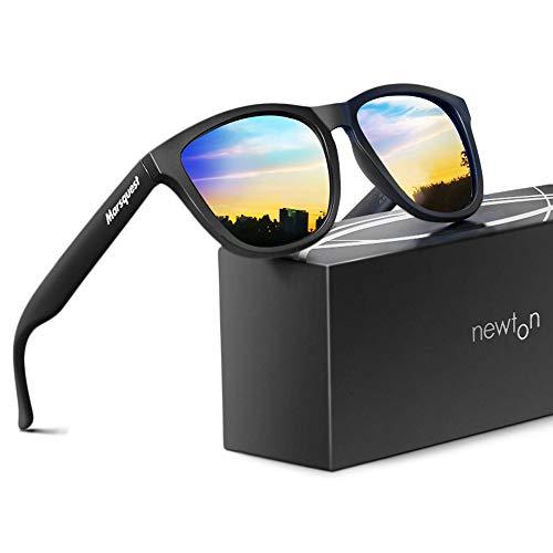 MARSQUEST Sonnenbrille Polarisiert - Original UV400 Modell Newton Unisex Sonnenbrille, Farben, Verspiegelt, UV-Schutz, 7 Schutz-Schichten, Leicht, Stoßfest, Kratzfest Sonnenbrille für Herren und Damen