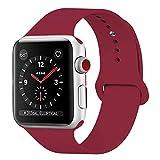 GIPENG Para Correa Apple Watch 38MM 40MM, Suave Silicona iWatch Correa, para...