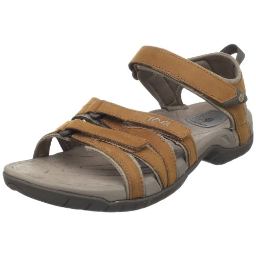 Teva Tirra Leather W`s 9097, Sandali donna, Marrone (Rust), 38