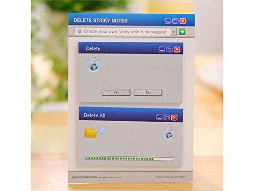 OVVO Einfach Computer-Dialog-Muster-klebrige Anmerkung für Mitteilungs-Anmerkung (Blau)