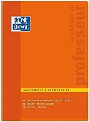 Oxford Enseignants Cahier de Professeur Maternelle et Elémentaire 24 x 32 cm 100 Pages Couleurs Aléatoires - C