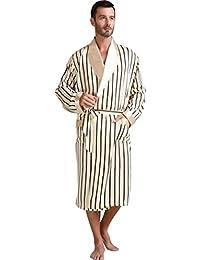 ca8e3b1be6 Mens Silk Satin Bathrobe Robe Nightgown Big and tall S~3XL Plus Gifts
