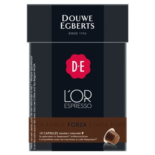 Purchase Douwe Egberts L'OR Espresso Forza, Pack of 5 x 10 Capsules, Nespresso compatible (50 Pods in Total) by L´OR Espresso
