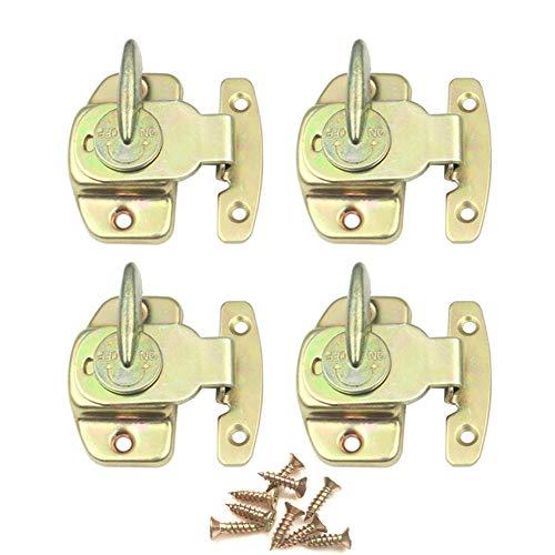 cgmj 4Stück Tisch Schnalle Esstisch Schlösser Stecker Hardware Zubehör gold - Gold-ton-hardware Lock