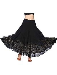 B Baosity Jupe de Danse Flamenco Longue en Maille Paillettes Elégante  Classique - Taille 66- e2030f46c64