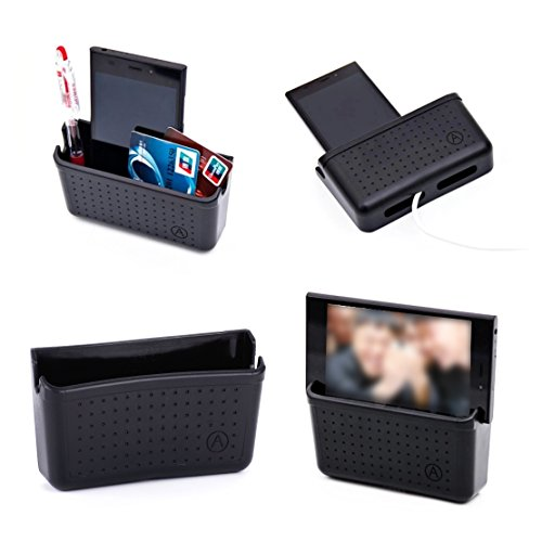 Organisator Lagerung Tasche (beler Universal Schwarz Kunststoff Auto Handy Telefon Tasche Lagerung Organisator Aufbewahrung Halter)