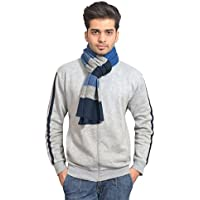 513 Men's Striped Muffler (Free Size, Multicolour)