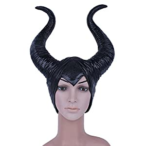 Maleficent with Witch Horns Máscara