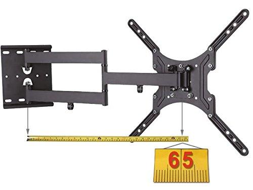 Universal Fernseher Halterung - Schwenkbar Neigbar - 16-55 Zoll (39,6-140 cm) - Ausziehbar bis 65 cm - TV Wandhalterung für 3D HD LED LCD - VESA 100 200 300 400 schwarz Modell: L22L