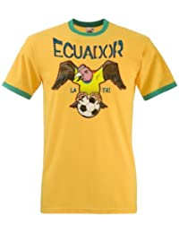 Ecuador Football Mascot Mens World Cup T-Shirt Camiseta Para Hombre