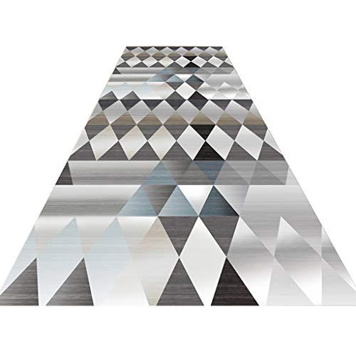 3D Tappeti Runner Corridoio Moderno E Semplice Tappeto per Cucina portone Hotel Sporco Tappo Anti Scivolo Resistente 6mm (Colore : A, Dimensioni : 80x300cm)