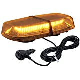 Justech 72 LED Amber Beacon 18W Car Emergency Light Flashing Warning Lights 8 Flash Modes Waterproof Flashing Beacon Recovery Strobe Light Bar 12V 24V with Magnetic Base for Car Vehicle Truck Trailer