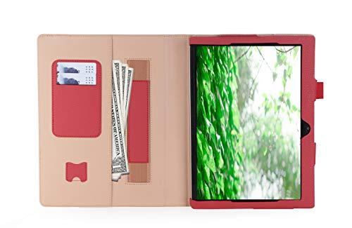 Convertible Tablet-fall (ISIN Tablet Fall Serie Premium PU-Leder Schutzhülle für Lenovo Ideapad MIIX 320 10,1 Zoll Windows 10 Convertible 2 in 1 Tablet PC mit Handschlaufe und Kartenschlitz (Rot))
