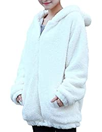 Weimilon Chaqueta Otoño Mujer con Elegantes Vellón Capucha Outwear Plush  Invierno Joven Chaqueta Manga Larga Jacket Abrigos… 8babf98dba41