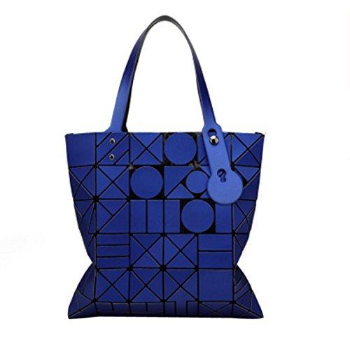 Frauen Paket Geometrische Umhängetasche Handtasche Darkblue