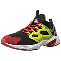 Reebok Men's Fury Adapt Fashion Sneaker, Black/Hypergreen/Red Rush/White, 9 M US