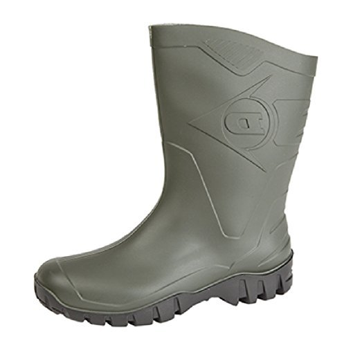 MENS GREEN DUNLOP WELLINGTON BOOTS WELLIES WIDE CALF