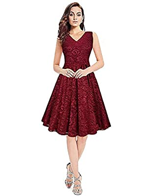 Kizu Enterprise Women's Skater Dress (Maroon)