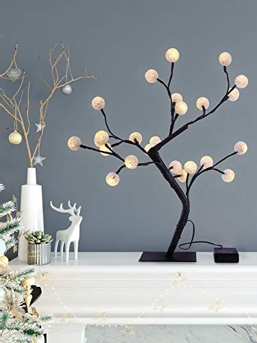 Weihnachtsbeleuchtung Led Baum.Decoking 47484 24er Led Baum Warm Weiß Lichterbaum Lichterzweig