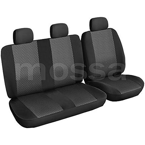 ELEGANCE (E3) (totalmente a medida) - Juego de fundas de asientos a: Ford Transit Custom (3-plazas) - (2012-….)