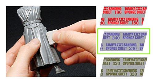 Tamiya 300087162 - Funktions- und Standmodellbau - Schleifschwamm 240-er Körnung