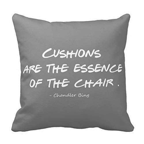 s Quote Pillow Case Chandler Bing,Cover Size:18 x 18 Inch(45cm x 45cm) ()