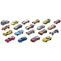 Hot Wheels Coffret 20 véhicules, jouet pour enfant de petites voitures miniatures, modèle aléatoire, H7045