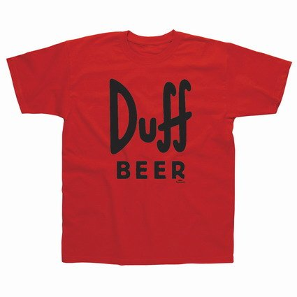 Network Shop | T-SHIRT MAGLIETTA SIMPSONS DUFF BEER TAGLIA M di Simpsons