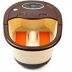 Fußbad / Massage Bubble Fußbad / Mechanische Fußmassage Fußbassin Badewanne / Multifunktionsfußpflege / Förderung Der Blutzirkulation Fußpflege Maschine,Gelb