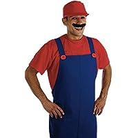 Plumbers Disfraz de súper Mario Bros para hombre, talla 52-56 (FS2279-