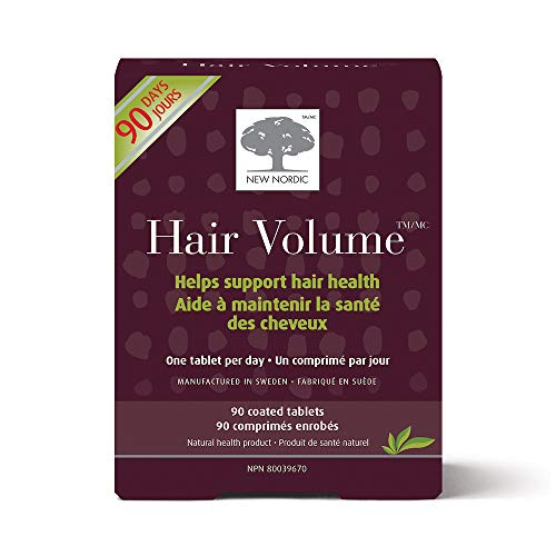 New Nordic Hair Volume 90 Tablets Hair Growth Supplement Biotin Naturally Sourced Ingredients Value Pack