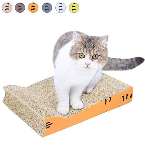 AMZNOVA, tiragraffi per Gatti a Forma di Gatto, con Fondo in Cartone Ondulato riciclabile, Wide (Width 11'), Sugarpine Air Mesh - Donna