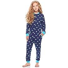 Merry Style Pijamas Enteros 1 Pieza Vestidos de Dormir 100% Algodón Niña ...