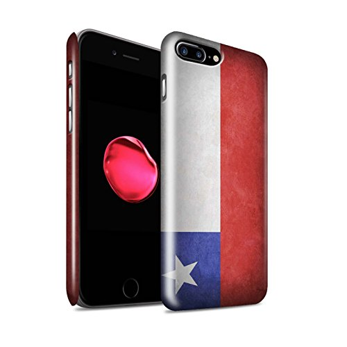 STUFF4 Glanz Snap-On Hülle / Case für Apple iPhone X/10 / Griechenland/Griechisch Muster / Flagge Kollektion Chile/Chiliean