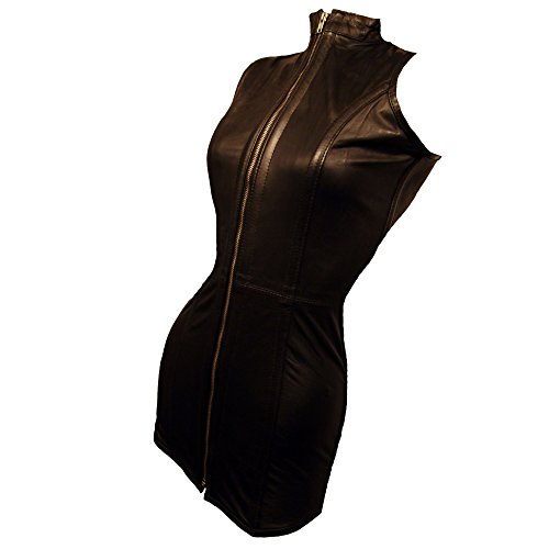 Lederkorsett Kleid Korsettkleid Korsett W26 Größe S 32 RenasDreams genuine leather corset (Rindsleder Harness Schwarz)
