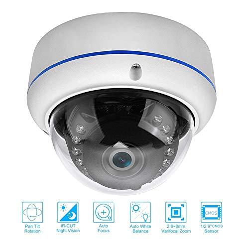 Neckip Analoge PTZ-Kamera HD1080P 2,5-Zoll-Mini-Dome-Überwachungskamera 4facher optischer Zoom (2,8-12 mm) 25 ° / s Schwenkgeschwindigkeit 4-in-1-CCTV-Kamera mit IR-Nachtsicht 9-mm-mini-dome