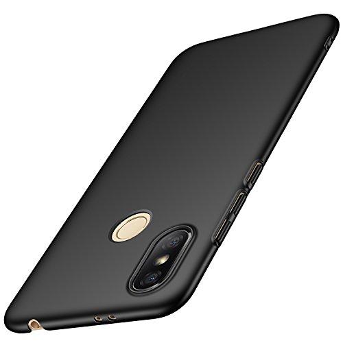 anccer Xiaomi Redmi S2 Hülle, [Serie Matte] Elastische Schockabsorption und Ultra Thin Design für Xiaomi Redmi S2 (Glattes Schwarzes)