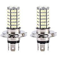 Qiilu 2X H4 120 SMD Bombilla de luz de Coche Hi/Low Beam LED Faros